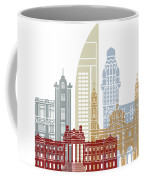Montevideo Skyline Poster Coffee Mug