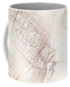 Montreal Street Map Colorful Copper Modern Minimalist Coffee Mug