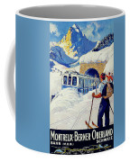 Montreux, Berner Oberland Railway, Switzerland, Winter, Ski, Sport Coffee Mug
