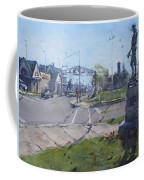 Monument At Pine Ave And Portage Rd Coffee Mug