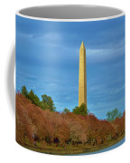 Monument Blossoms, Japanese Cherry Blossom Trees With The Washington Monument In The Background Coffee Mug