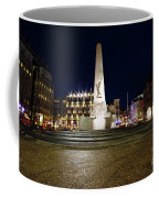 Monument On The Dam In Amsterdam Netherlands At Night Coffee Mug