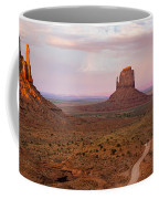 Monument Valley Sunset Panorama Coffee Mug