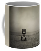 Moody Lifeguard Stand On Beach. Coffee Mug