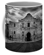 Moody Morning At The Alamo Bw Coffee Mug