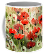 Moody Poppies In The Afternoon Coffee Mug