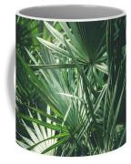 Moody Tropical Leaves Coffee Mug