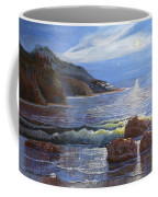 Moon Above The Olympic Peninsula Coffee Mug