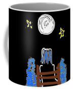 Moon And Beach Watcher On Martha's Vineyard Coffee Mug