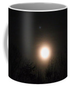 Moon And Jupiter Coffee Mug