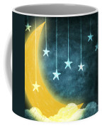 Moon And Stars Coffee Mug by Setsiri Silapasuwanchai
