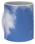 Moon During The Day, Above The M4 In Slough Coffee Mug