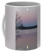 Moon In A Colorful Sky Over Kentucky Lake And Lbl A National Recreation Area Coffee Mug