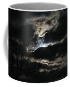 Moon In The Clouds Over Kentucky Lake Coffee Mug