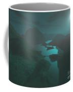 Moon Light At The Mountains Coffee Mug