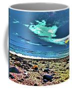 Moon Lit Beach, Bray, Wicklow, Ireland, Poster Effect1b Coffee Mug