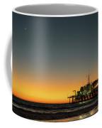 Moon On Jetty  Coffee Mug by Michael Hope