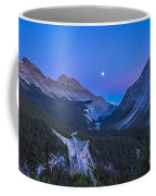 Moon Over Icefields Parkway In Alberta Coffee Mug