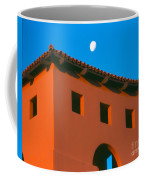 Moon Over Red Adobe Horizontal Coffee Mug