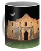 Moon Over The Alamo Coffee Mug
