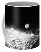Moon Over The Alps Coffee Mug