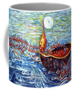 Moon Over The Ocean Coffee Mug