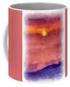 Moon Rise In Aquarelle Coffee Mug