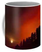 Moon Rising With A Wild Fire Coffee Mug