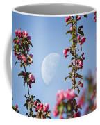 Moon Through The Crabapple Blossoms Coffee Mug