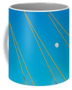 Moon Through The Wires Coffee Mug