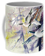 Moonlight Canadian Geese Coffee Mug