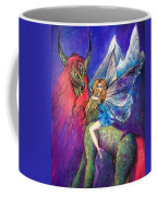 Moonlight Fairy And Her Horned Horse Coffee Mug