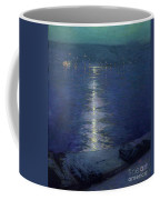 Moonlight On The River Coffee Mug by Lowell Birge Harrison