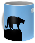 Moonrise And Cougar Coffee Mug