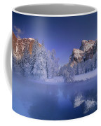 Moonrise Over Gates Of The Valley Yosemite National Park Coffee Mug