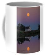 Moonrise Over Lake Badus Coffee Mug