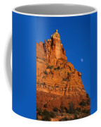 Moonrise Over Red Rock Coffee Mug by Mike  Dawson