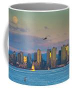 Moonrise Over San Diego Coffee Mug
