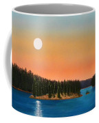 Moonrise Over The Lake Coffee Mug