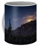 Moonrise Over The Superstitions Coffee Mug