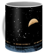 Moonset Over Depot Coffee Mug