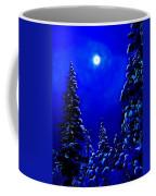 Moonshine On Snowy Pine Coffee Mug