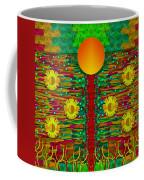 Moonshine Over The Golden Sacred Pond  Coffee Mug