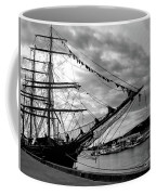 Moored At Hobart Bw Coffee Mug