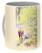 Moose In The Yard Coffee Mug