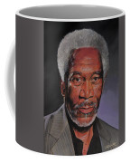 Morgan Freeman Portrait Coffee Mug