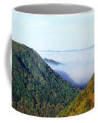 Morning Fog At Sunrise In Autumn Coffee Mug