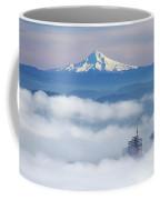 Morning Fog Over Portland Coffee Mug