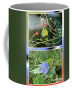 Morning Glories And Butterfly Coffee Mug