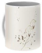 Morning Glory Flowers Sumi-e Illustration Artistic Design On Lig Coffee Mug